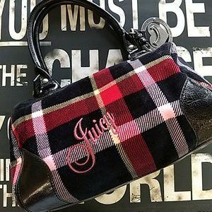 Handbags - Velour Plaid Juicy Bag